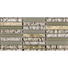 Испанская мозаика L'Antic Colonial (Лантик Колониаль) Mosaico Tecno Linear Cream-Capuccino G-517 29.6*29.6 см для ванной комнаты