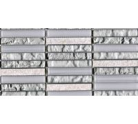 Мозаика L'Antic Colonial Mosaico Tecno Linear Silver-White G-517 29.6*29.6