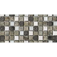 Испанская мозаика L'Antic Colonial (Лантик Колониаль) Mosaico Tecno Linear Quarz Emerald G-522 29.6*29.6 см для ванной комнаты