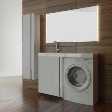 Мебель Lotos (Лотос) 120 см с дверью для ванной комнаты, напольная, под стиральную машину