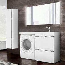 Мебель Lotos (Лотос) 120 см для ванной комнаты, подвесная, под стиральную машину