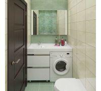 Мебель Lotos 120 см для ванной комнаты, напольная, под стиральную машину