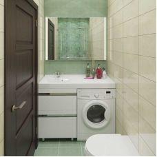 Мебель Lotos (Лотос) 120 см для ванной комнаты, напольная, под стиральную машину
