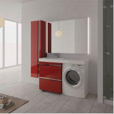 Мебель Lotos (Лотос) 130 см для ванной комнаты, напольная, нерж. сталь, под стиральную машину