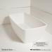 Прямоугольная ванна MonteBianco (МонтеБианко) Venice Uno (Венис Уно) 184*90 см из акрилового камня для ванной комнаты