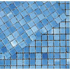Испанская мозаика Mosavit (Мосавит) 2001 Bruma-Azul Piscina 31.6*31.6 см для ванной комнаты