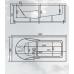 Прямоугольная акриловая ванна Novitek (Новитек) Carrera 190*90 см для ванной комнаты