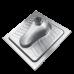 Чаша генуя Oceanus (Океанус) 4-005.1 из нержавеющей стали для ванной комнаты и туалета