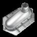 Чаша генуя Oceanus (Океанус) 4-006.1 из нержавеющей стали для ванной комнаты и туалета
