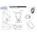 Писсуар Oceanus (Океанус) 2-014.1(F) из нержавеющей стали для ванной комнаты и туалета
