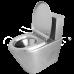 Унитаз Oceanus (Океанус) 1-001.2(P) из нержавеющей стали для ванной комнаты и туалета