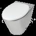 Унитаз Oceanus (Океанус) 1-002.1(S) из нержавеющей стали для ванной комнаты и туалета