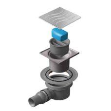 Сливной водосточный трап Pestan (Пештан) Confluo Horizontal 100*100 мм для ванной комнаты