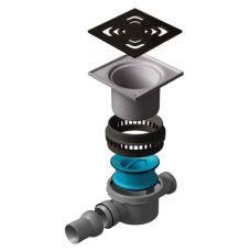 Сливной водосточный трап Pestan (Пештан) Confluo Iron 2 144*144 мм для наружного применения: для сада, гаража и т.д.