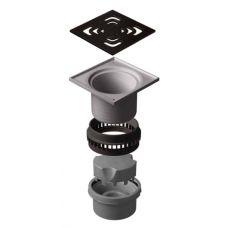 Сливной водосточный трап Pestan (Пештан) Confluo Iron 4 144*144 мм для наружного применения: для сада, гаража и т.д.
