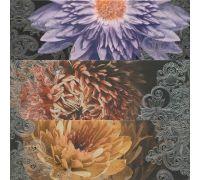 Декор Porcelanite Dos Serie 2210 Composicion Lila-Turquesa-Marengo Garden III 67.5*67.5