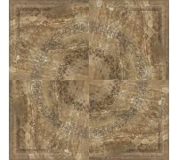 Панно Porcelanite Dos Serie 5012 Roseton Marron 100*100
