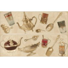 Декор Porcelanite Dos Serie 7015-7016-7017 Composicion Argel II Crema 50*75 см для ванной комнаты, кухни, прихожей, квартиры и дома