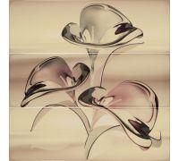 Декор Porcelanite Dos Serie 7015-7016-7017 Composicion Murano III Crema 75*75