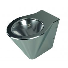 Напольный унитаз Purus WC V135 из нержавеющей стали для ванной комнаты и туалета