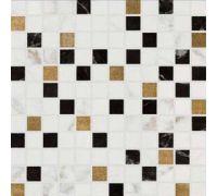 Декор Sinfonia Calacatta Malla Black-Oro Corte 30*30