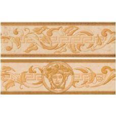 Итальянская керамический бордюр Versace (Версаче) Venere Fascia Foglia Beige 68066 7,8*25 см для ванной комнаты, кухни, прихожей, квартиры и дома