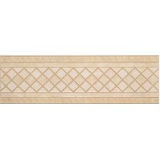 Итальянский керамический декор Versace (Версаче) Venere Fascia Geometrica Almond-Beige 17240 15,3*50 см для ванной комнаты, кухни, прихожей, квартиры и дома