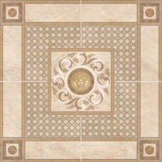 Итальянское панно Versace (Версаче) Venere Roseton Almond/Beige 17285 100*100 см для ванной комнаты, кухни, прихожей, квартиры и дома