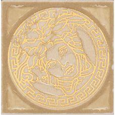 Итальянский керамический декор Versace (Версаче) Venere Tozzetto Medusa Oro 17271 4*4 см для ванной комнаты, кухни, прихожей, квартиры и дома