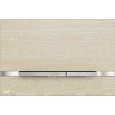 Кнопка управления Alcaplast Flat Wood Stripe Oak White для системы инсталляции