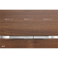 Кнопка управления Alcaplast Flat Wood Stripe Teak для системы инсталляции