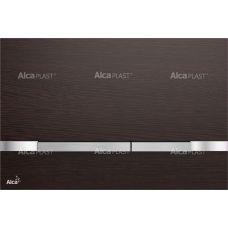 Кнопка управления Alcaplast Flat Wood Stripe Wenge для системы инсталляции