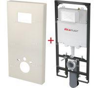Комплект Alcaplast Slimbox Короб + A1101/1200 Sádromodul Slim для унитаза