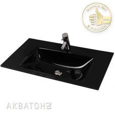 Раковина Акватон Rimini 80 Float Black для мебели в ванной комнате
