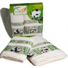 Комплект бамбуковых полотенец Cestepe (Честепе) Bamboo Panda (Бамбу Панда) для ванной комнаты
