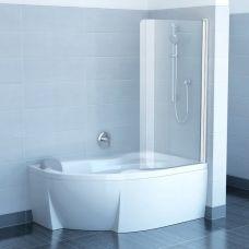 Шторка для ванны Ravak (Равак) Chrome (Хром) CVSK1 Rosa 140/150 для ванной комнаты