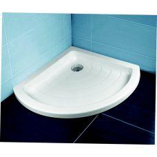 Полукруглый душевой поддон Ravak Kaskada Radius LA 90*90 для душевой шторки в ванной комнате