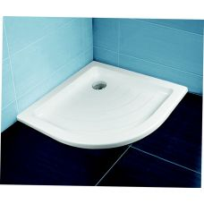 Полукруглый душевой поддон Ravak Kaskada Ronda LA 90*90 для душевой шторки в ванной комнате