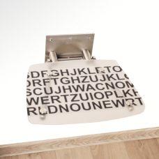 Сидение для душа Ravak (Равак) OVO B (ОВО Б) Decor Text B8F0000030 для ванной комнаты