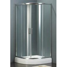 Полукруглая душевая шторка Riho (Рихо) Hamar Quadrant 100*100 для душевого поддона в ванной комнате