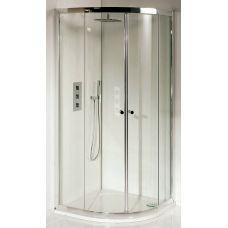 Полукруглая душевая шторка Riho (Рихо) Lucena Quadrant 90*90 для душевого поддона в ванной комнате