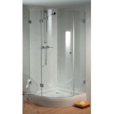 Полукруглая душевая шторка Riho (Рихо) Scandic (Скандик) S308 100*100 см для душевого поддона в ванной комнате