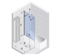 Шторка для ванны Riho Nautic N500 L1000