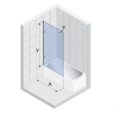 Шторка для ванны Riho (Рихо) Scandic (Скандик) S108 85
