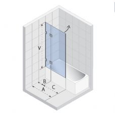 Шторка для ванны Riho (Рихо) Scandic (Скандик) S109 85