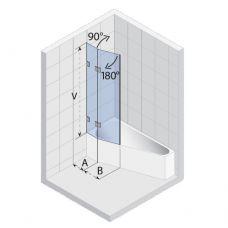 Шторка для ванны Riho (Рихо) Scandic (Скандик) S500 Delta 150/160