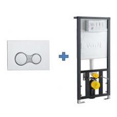 Инсталляция и кнопка в комплекте VitrA 700-1873 для унитаза, 2 в 1