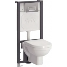 Комплект Vitra (Витра) Form 300 9812B003-7203: унитаз с инсталляцией и кнопкой смыва