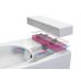 Безободковый подвесной унитаз Vitra (Витра) Metropole (Метрополь) 5672B003-1087 Rim-Ex с бидеткой для ванной комнаты и туалета