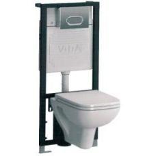 Комплект Vitra (Витра) S20 9004B003-7200 (инсталляция, кнопка смыва, унитаз и сидение) для ванной комнаты и туалета
